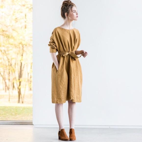8216c5224e Oversized loose fitting linen dress. M 5aaa05469cc7ef0648bc8ac7